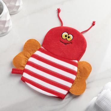 Мочалка варежка детская. пчелка. цвета МИКС 143049