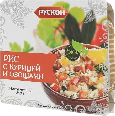 Рис Рускон с курицей и овощами