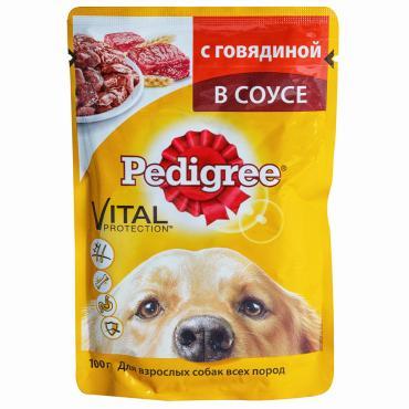 Корм Pedigree влажный для взрослых собак с говядиной в соусе