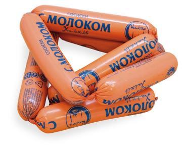 Сосиски с молоком Ихляс мясокомбинат Халяль, 1 кг., Оболочка