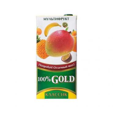 Сок классика мультифруктовый,  Gold, 1,93 л., тетра-пак