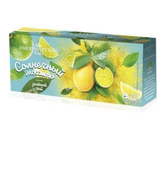Чай пакетированный зеленый 20 пак. Императорский Солнечное мохито, 30 гр., картонная коробка