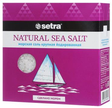 Соль Setra Морская крупная йодированная