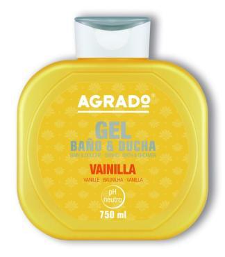 Гель для душа  Agrado, с ароматом ванили, 750 мл., Испания