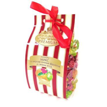 Попкорн-премиум фруктовый фикс, 165 гр., картонная коробка с бантом