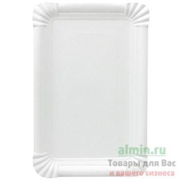 Тарелка бумажная 200х130 мм., эко картон белый, 250 штук в упаковке, Papstar