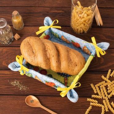 Хлебница Доляна Пэчворк 30*30 см., 100% хлопок, рогожка 162 г/м2
