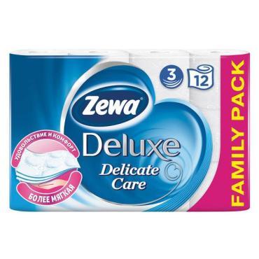 Туалетная бумага Zewa Deluxe трехслойная Белая 12 шт.
