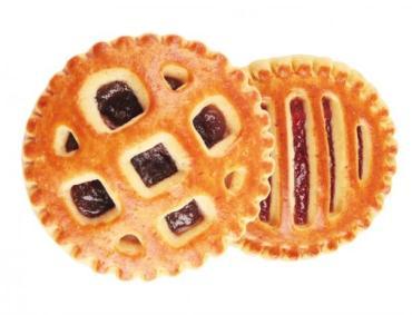 Печенье со вкусом клубники Большеберезниковский хлебозавод Вкусненькое печеньице, 2 кг., картонная коробка