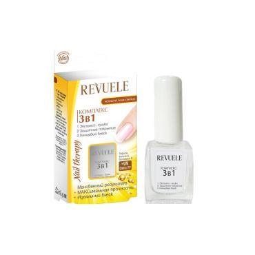 Средство для ногтей Revuele Комплекс 3в1 Экспресс-сушка защитное покрытие глянцевый блеск