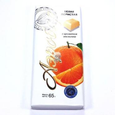 Плитка Аэробар кондитерская пористая белая с ароматом апельсина