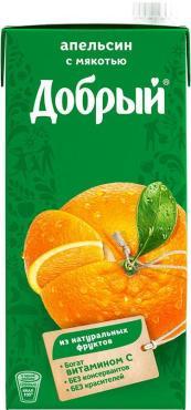 Нектар Добрый Апельсиновый с мякотью 2л