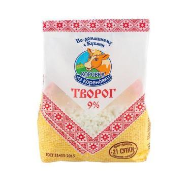 Творог 9%, Коровка из Кореновки, 340 гр., пакет