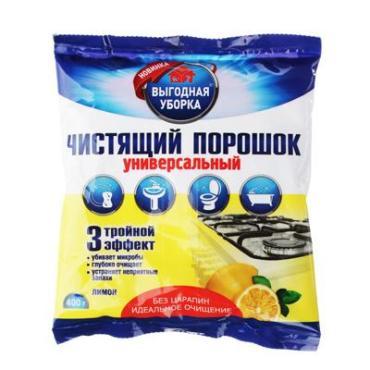 Чистящий порошок универсальный, Выгодная Уборка, 400 гр., Флоу-пак