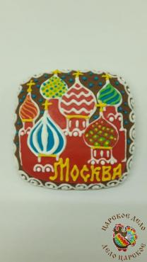 Пряник Царский пряник Открытка малая Москва 12х12 см.