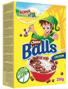 Готовый завтрак Bona Vita, Шоколадные шарики, 250 г., Чехия