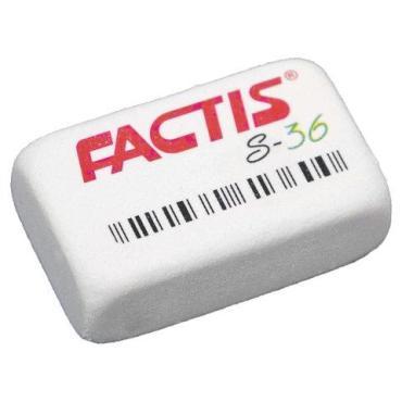 Резинка FACTIS S 36 стирательная 40х24х14 мм. мягкая, синтетический каучук, CNFS36