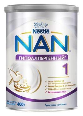 Смесь HA 1OPTIPRO гипоаллергенная, NAN, 400 гр., ж/б