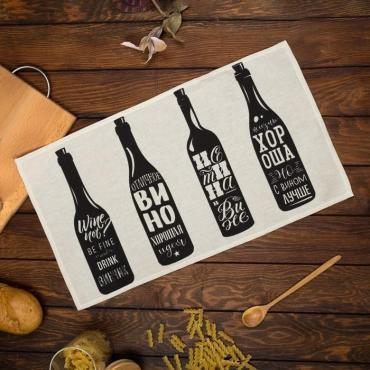 Полотенце Доляна Wine кухонное 35х60 сантиметров, 100% хлопок