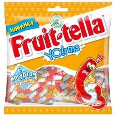 Мармелад жевательный Йогуртовые Червячки, Fruit-tella, 138 гр., флоу-пак