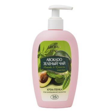 Крем-пенка Iris Aroma Line для интимной гигиены Авокадо и Зеленый чай