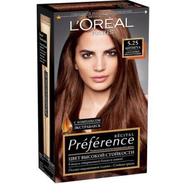 Краска для волос L'Oreal Preference Recital 5.25 Антигуа каштан перламутровый