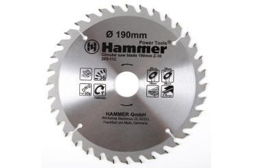 Диск пильный 190мм*36*30/20/16мм по дереву Hammer Flex 205-112 CSB WD, 30 гр., блистер