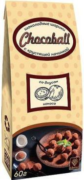 Шоколад Libertad, Chocoball with Coconut, 60 гр., картонная коробка