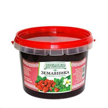 Ягода Премьер Земляника протертая с сахаром, Россия
