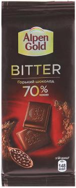 Шоколад Alpen Gold Bitter горький 70% 85г