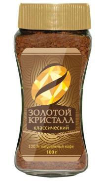 Кофе Золотой Кристалл растворимый 100 гр.