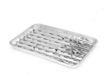 Формы одноразовые алюминиевые Пикничок Вкусный гриль 34x23 см., 2 штуки, 100 гр., пластиковый пакет