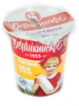 Сметана Останкинский МК 15%