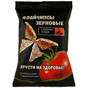 Флайчипсы зерновые Flychips с томатом острые