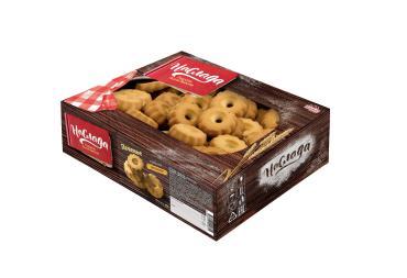 Печенье сдобное Песочное форма цветочек, Сажинский, 3 кг., картонная коробка