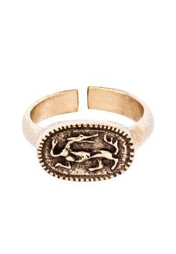 Кольцо, 9036, латунь, размер 20, Кудесы Волк, 100 гр., пластиковый пакет