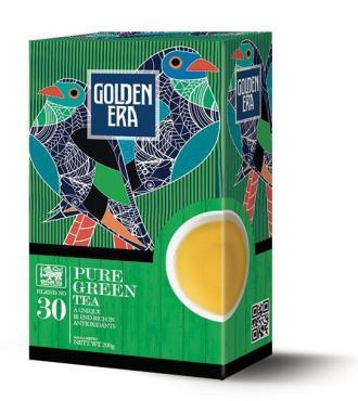 Чай CEYLON GREEN TEA PEKOE зеленый, Golden Era, 200 гр., картон