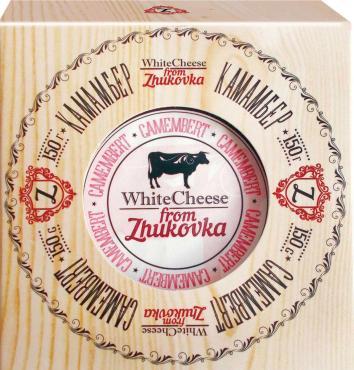 Сыр White Cheese from Zhukovka Камамбер 50%, 150 гр., картонная коробка
