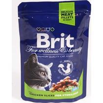Комр влажный для стерилизованных кошек с курицей Brit 100 гр. Дой-пак