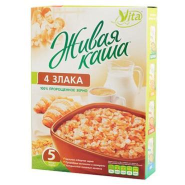 Живая каша Vita 4 злака 100% пророщенное зерно