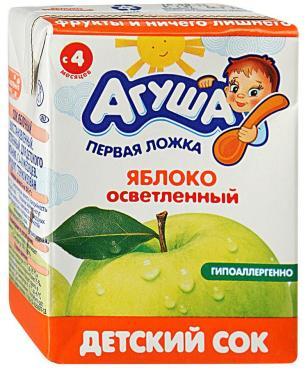 Сок Агуша яблоко
