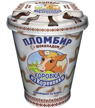 Мороженое Коровка из Кореновки Пломбир с шоколадом