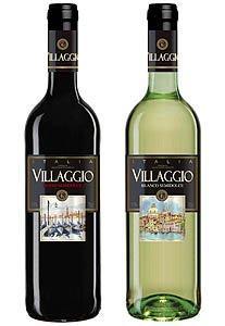Вино Villaggio столовое сухое белое