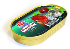Филе скумбрии бланшированное в томате Рыбное меню, 175 гр., ламистер