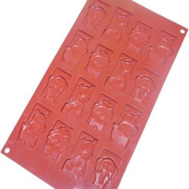 Форма для льда и шоколада Доляна Животные, 16 ячеек, цвет шоколадный