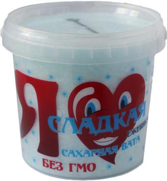Сахарная вата ежевика Я сладкая, 50 гр., пластиковое ведро