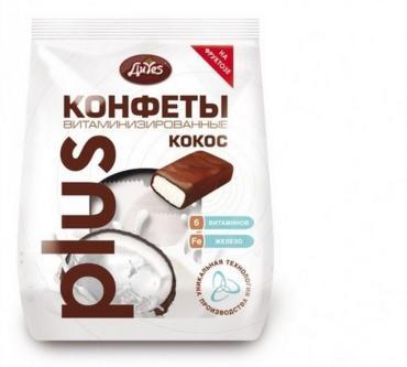 Конфеты ДиYes кокосовые витаминизированные на фруктозе