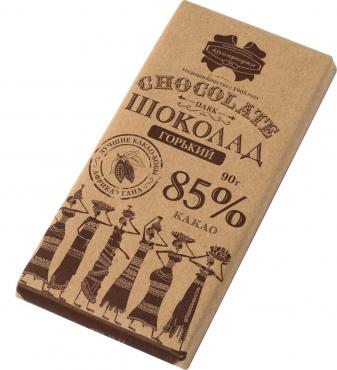 Шоколад Горький 85%, Коммунарка, 90 гр., бумага