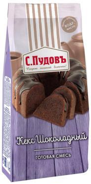 Смесь Кекс шоколадный С.Пудовъ, 400 гр., Пластиковый пакет