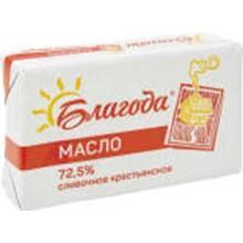Масло сливочное крестьянское Благода, 180 гр., Бумажная упаковка